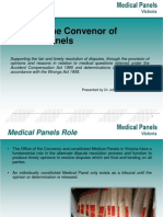 Office of the Convenor of Medical Panels John Malios ACHRF 2013