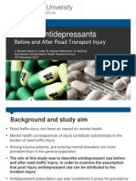 Use of Antidepressants Before and After Road Transport Injury Janneke Berecki ACHRF 2014