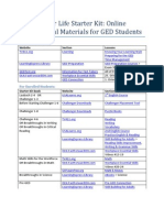 Online Instructional Materials for Students