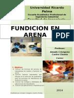 Manufactura Fundicion en Arena