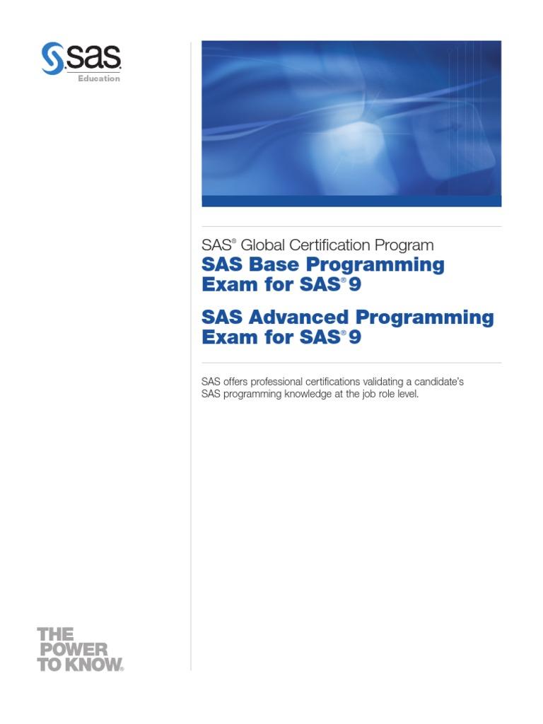 Sas Global Certification Program Sas Software Professional
