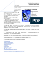 The DCR or Diagnostic Code Reader