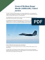AIM-120 Advanced Medium Range Air to Air Missile AMRAAM, United States of America
