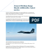 AIM-120 Advanced Medium Range Air to Air Missile AMRAAM, United States of America