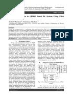 Mitigation of Noise in OFDM Based Plc System Using Filter Kernel Design