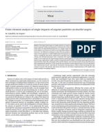 Finite Element Analysis of Single Impacts of Angular Particles on Ductile Targets
