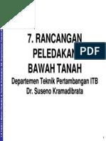 TA3211-7 Rancangan Peledakan UG