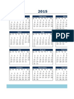 Yearly Calendar in Excel Template2013