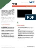 NEC Datasheet P402-English