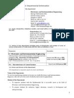 2. Department Information