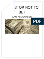 TO BET OR NOT TO BET (LAW ASSIGNMENT)__.docx