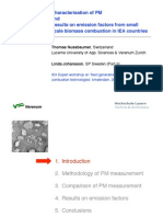 emission factors from small scale biomass combustion