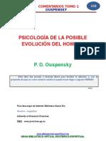 Psicologia de La Posible Evolucion Del Hombre p. d. Ouspensky