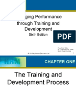 Chapter One - Management Performance through Training and Development