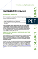 Planning Survey Research