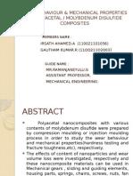 Wear Behaviour & Mechanical Properties of Polyacetal