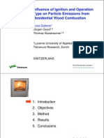 inflence of ignition on particle emission from residential wood combustion