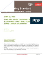 Low Voltage Distribution Earthing