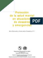 Protección de la salud mental en situaciones de desastre y emergencias