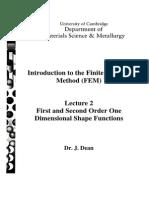 FEMOR Lecture 2