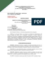 Sentencia D. Arturo Sanz Raga Tribunal Superior de Justicia