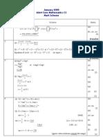 Math Jan 2005 MS C2