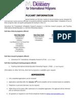 Applicationinformation Fees