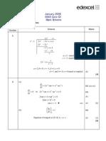 Math Jan 2008 MS C3