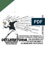 AFICHE DECALRATORIA-Por El Rescate de La Autonomia Universitaria