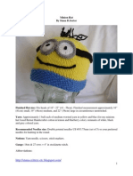 Knitting Pattern for Minion Hat