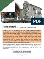 VIGILIA EUCARÍSTICO-MARIANA Con el mensaje de Fátima