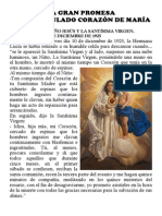 LA GRAN PROMESA DEL INMACULADO CORAZÓN DE MARÍA Y ACTO DE REPARACIÓN