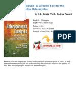 Heterogeneous Catalysis a k l Ameta 68069364