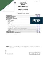Embraer 145 Limitations