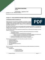 Unidad 12 - Evaluación de Estructuras de Hormigón en Servicio