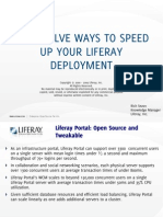 Top Twelve Ways to Speed Up Your Liferay Deployment
