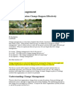 Change Management-Making Organization Change Happen Effectively