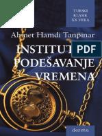 Ahmet-Hamdi Tanpinar~Institut za podešavanje vremena