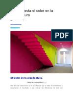 Cómo Afecta El Color en La Arquitectura