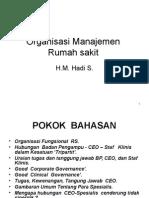 Organisasi Manajemen RS