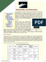 Meteors, Meteoroids, And Meteorites