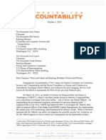 Campaign for Accountibility Letter to Congressional Commerce Committees Re