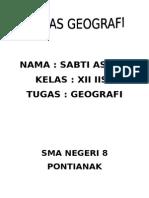 TUGAS GEOGRAFI SABTI