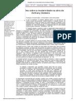 Anotações Sobre a Modernidade Na Obra de Anthony Giddens_OCR