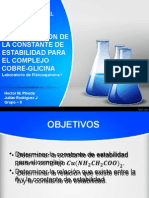 Determinacion de Constante de Estabilidad Del Complejo Cobre Glicina