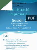 Sesion 2 -Fundamentos a La Admnistracion