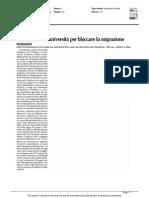 Accordo con le università per bloccare la migrazione di studenti - Il Garantista del 30 settembre 2015
