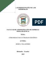 Cómo Redactar Un Trabajo Científico Jessica Villagomez