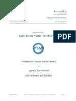 Scrum Master Exam - Sample Questions
