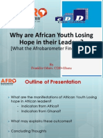 African Youth and Hope in Leaders?